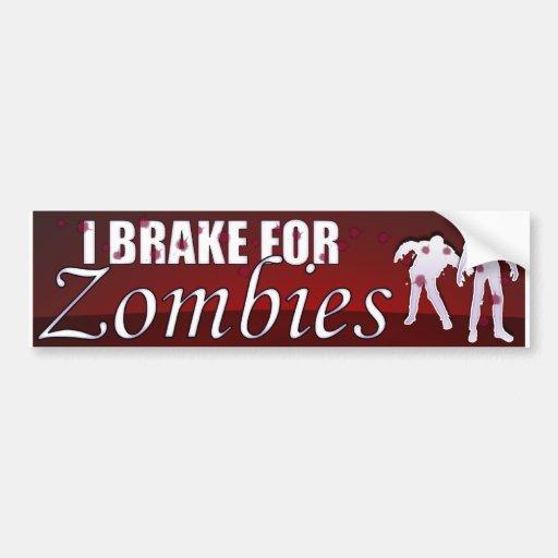 Freno para los zombis etiqueta de parachoque