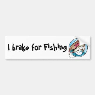 Freno para pescar pegatina de parachoque