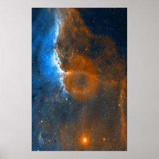 Frente 20x30 (29x29) de la ionización de la nebulo póster