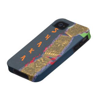 Frente baja Luau del tótem de Shaka Tiki - Case-Mate iPhone 4 Funda