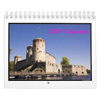 frente, calendario 2009