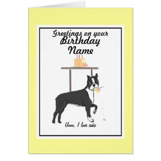 Frente conocido de Ana de la tarjeta de cumpleaños