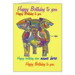 Frente de encargo de la tarjeta de cumpleaños del