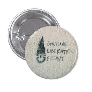 Frente de la liberación del gnomo pin redondo de 1 pulgada