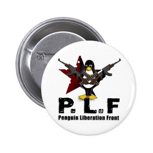 Frente de la liberación del pingüino pin redondo de 2 pulgadas