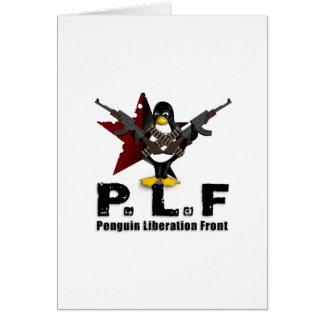 Frente de la liberación del pingüino tarjeta