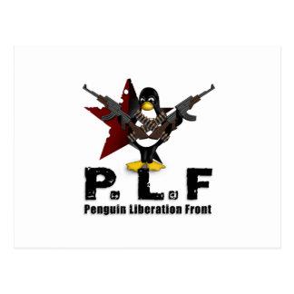 Frente de la liberación del pingüino postales