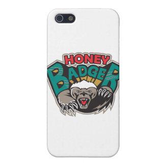 Frente de la mascota del tejón de miel iPhone 5 fundas