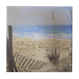 Frente de la playa azulejo cuadrado pequeño