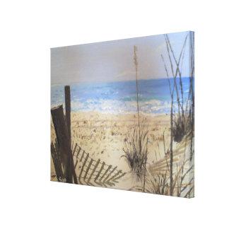 Frente de la playa impresiones de lienzo