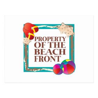 Frente de la playa tarjetas postales