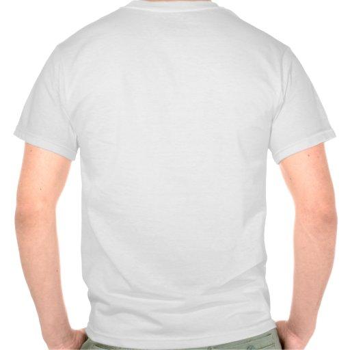 Frente de la prisa del friki/trasero camisetas