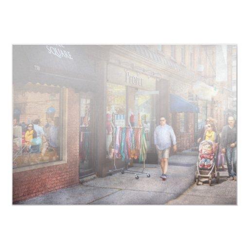 """Frente de la tienda - Hoboken, NJ - gente Invitación 5"""" X 7"""""""