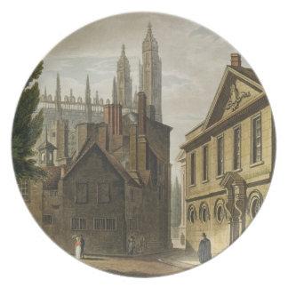 Frente de la trinidad Pasillo, Cambridge, 'del His Plato De Comida