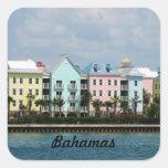 Frente de océano Bahamas Pegatina Cuadrada