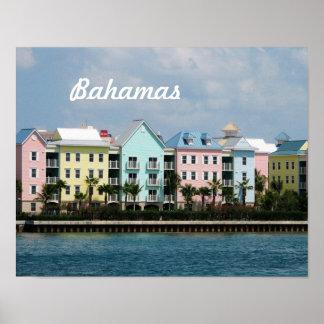 Frente de océano Bahamas Póster
