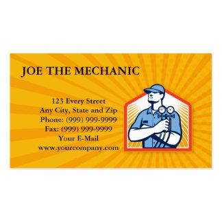 Frente del mecánico del aire acondicionado de la r plantillas de tarjetas personales