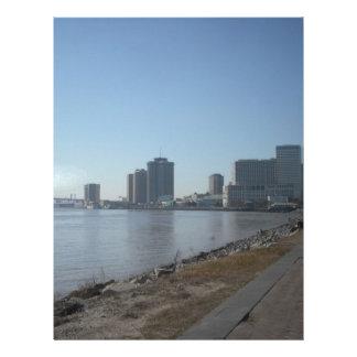 Frente del río de New Orleans Membretes Personalizados