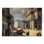 Frente del teatro del La Scala, 1852 Tarjeta De Felicitación
