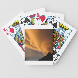 Frente frío del cielo baraja de cartas