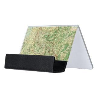 Frente occidental del mapa caja de tarjetas de visita para escritorio