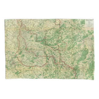 Frente occidental del mapa funda de cojín