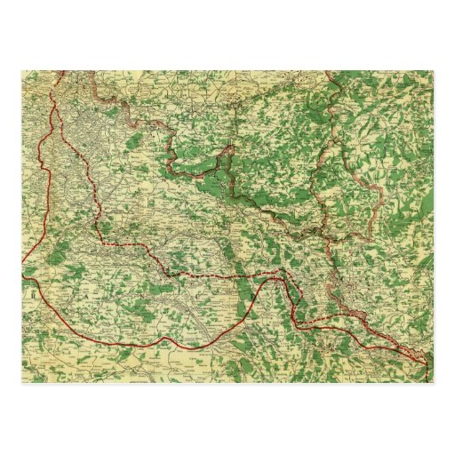 Frente occidental del mapa postal