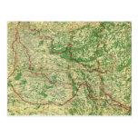 Frente occidental del mapa postales