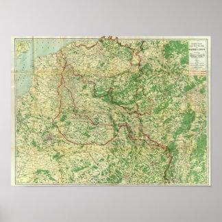 Frente occidental del mapa posters