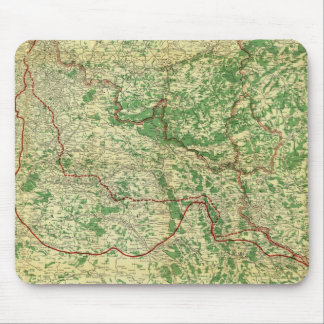 Frente occidental del mapa tapete de raton