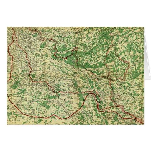 Frente occidental del mapa tarjeta de felicitación