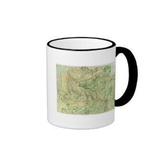 Frente occidental del mapa taza de café