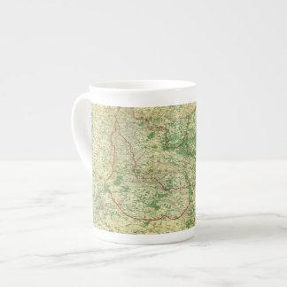 Frente occidental del mapa taza de porcelana