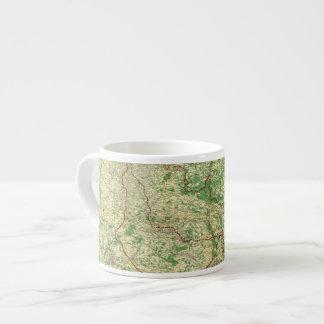 Frente occidental del mapa taza espresso