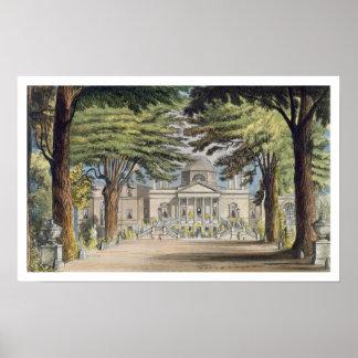 Frente principal de la casa de Chiswick, de R. Ack Póster