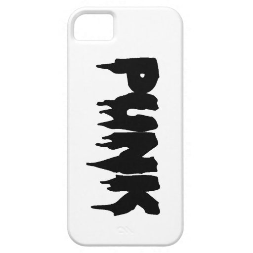 Frente punky adaptable del goteo iPhone 5 Case-Mate protectores