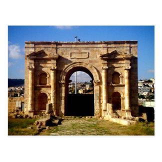 Frente romano de la estructura postales
