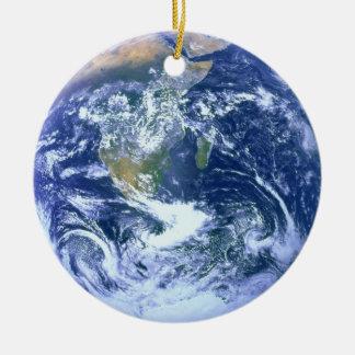 Frente: Tierra - trasera: Ornamento de la luna Ornamento De Navidad