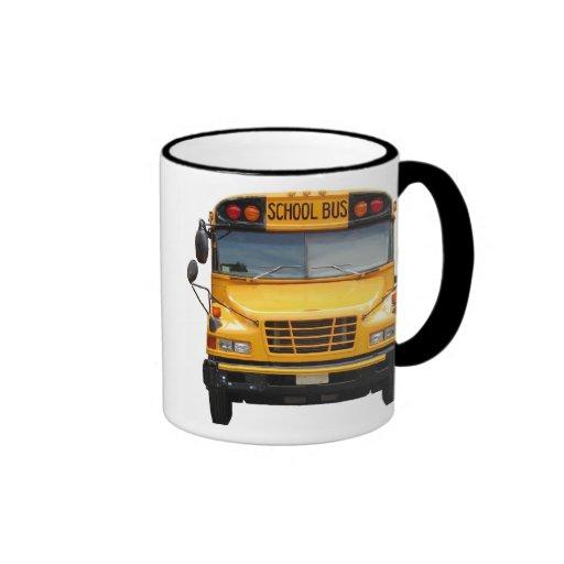 Frente y parte posterior del autobús taza a dos colores
