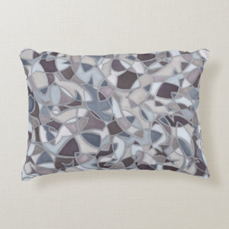Frenzied Fish Abstract Art Accent Pillow