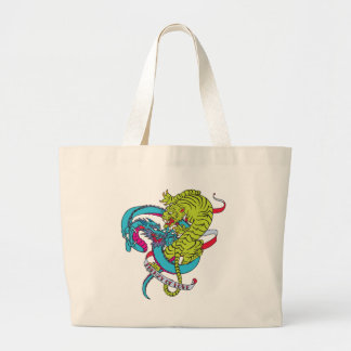 Frenzy of Love Tattoo Large Tote Bag