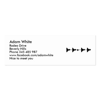 Frequence music Double-Sided mini business cards (Pack of 20)
