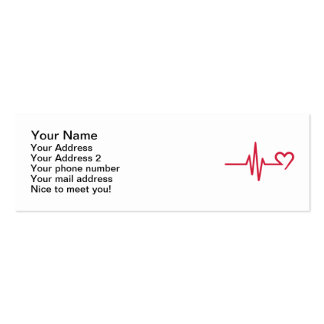 Frequency heart love business card template