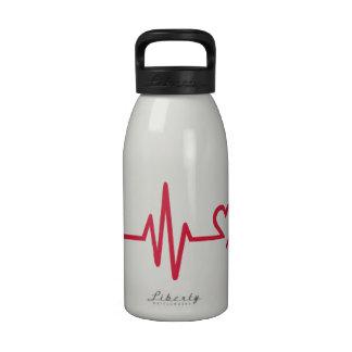 Frequency heart love drinking bottles