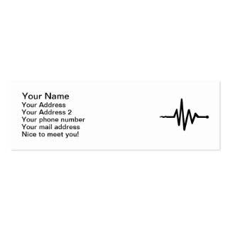 Frequency music Double-Sided mini business cards (Pack of 20)