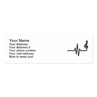 Frequency music note business card