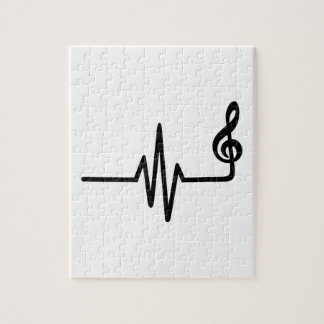 Frequency music note jigsaw puzzles