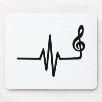 Frequency music note mousepad