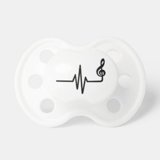 Frequency music note pacifiers