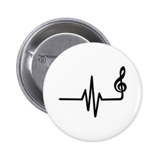 Frequency music note pinback button